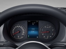 Sprinter Platform Vehicle, instrument cluster with colour display