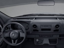 Sprinter Panel Van, cup holders on instrument panel