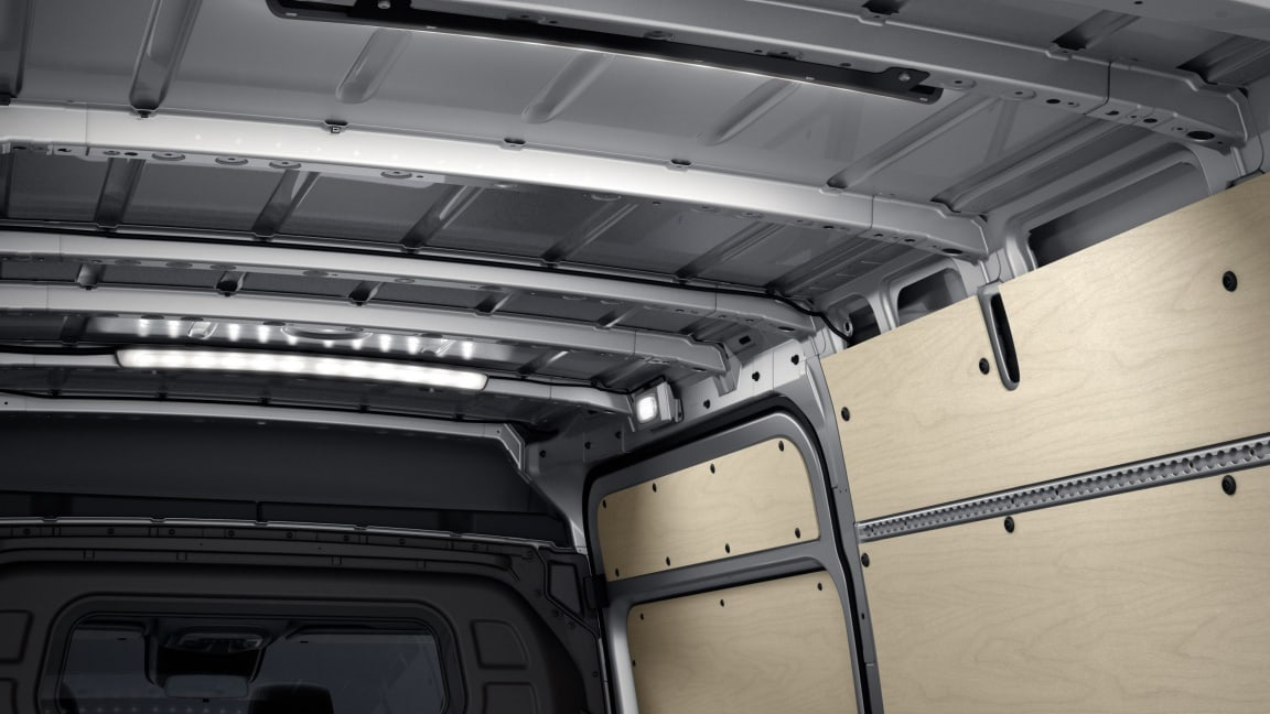 Sprinter Panel Van, LED light strip in load compartment