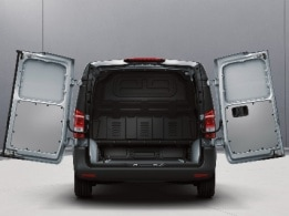 Vito, double-wing rear door, opening 180°, no window