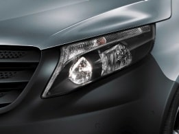 Vito Mixto, reflection-type headlamps with daytime running lamps